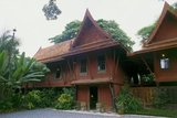 The Jim Thompson House is a museum in Bangkok. It is a complex of various old Thai structures that the American businessman Jim Thompson collected from all parts of Thailand in the 1950s and 60s.<br/><br/>  James (Jim) Harrison Wilson Thompson (born March 21, 1906 in Greenville, Delaware - unknown) was an American businessman who helped revitalize the Thai silk industry in the 1950s and 1960s. A former U.S. military intelligence officer, Thompson mysteriously disappeared from Malaysia's Cameron Highlands while going for a walk on Easter Sunday, March 26, 1967.