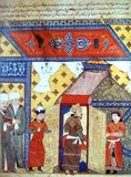 Mahmud Ghazan (1271–1304) was the seventh ruler of the Mongol Empire's Ilkhanate division in modern-day Iran from 1295 to 1304. He was the son of Arghun and Quthluq Khatun, continuing a line of rulers who were direct descendants of Genghis Khan. Considered the most prominent of the Ilkhans, he is best known for making a political conversion to Islam in 1295 when he took the throne, marking a turning point for the dominant religion of Mongols in Central Asia. His principal wife was Kokechin, a Mongol princess sent by Kublai Khan, and escorted from the Mongol capital to the Ilkhanate by Marco Polo.